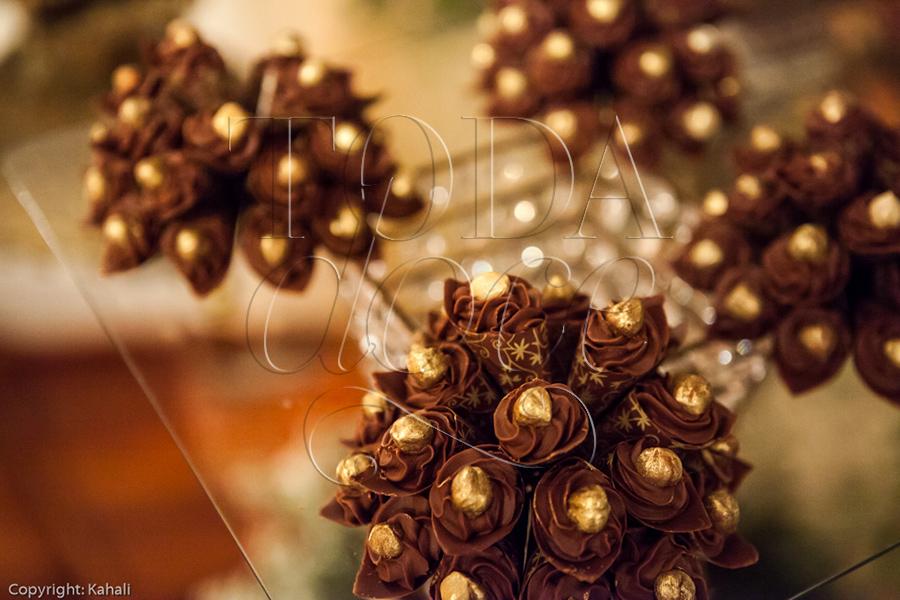 Corneto trufado decorado